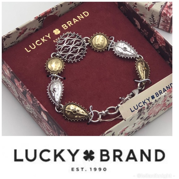 Lucky Brand Jewelry - 🍀Lucky Brand Two-Tone Openwork Pave Bracelet